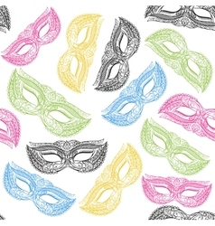 Masquerade carnival mask background pattern vector
