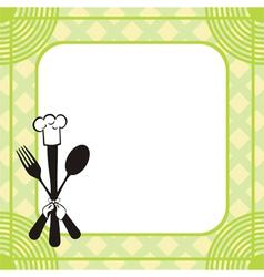 Menu knife fork spoon vector image