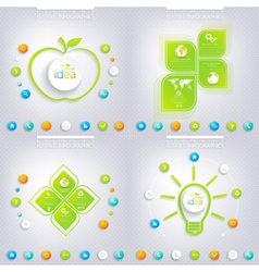 Modern green infographic design with place for vector image