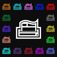 Newspaper icon sign Lots of colorful symbols for vector image