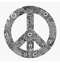 Peace symbol round pacifism sign vector image