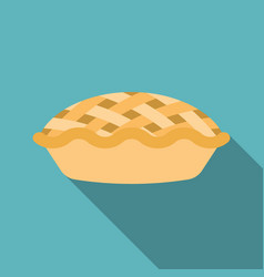 Pie icon with long shadow vector
