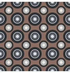 Retro car wheel seamless pattern vector