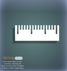 Ruler sign icon School tool symbol On the vector image