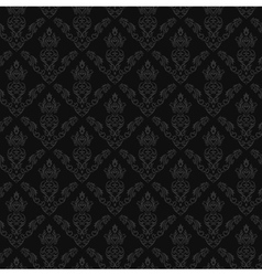 Seamless Damask Wallpaper 2 Gray Color vector image