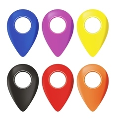 Set of map marker icons vector