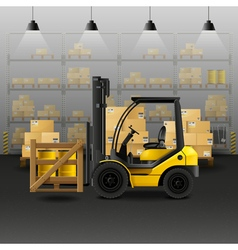 Warehouse Realistic Composition vector image vector image