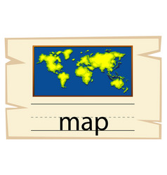 wordcard template for word map vector image