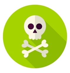 Dead man skull circle icon vector