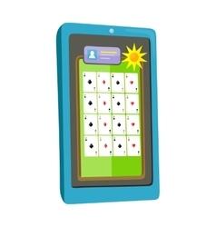 Online Casino on Tablet Computer vector image