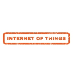 Internet of things rubber stamp vector