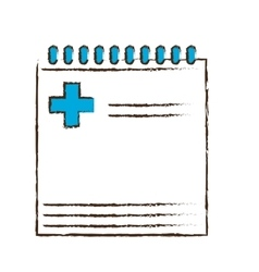 Notepad and pencil icon image vector