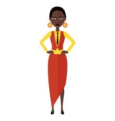 african nervous manager woman cartoon vector image