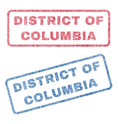 District of columbia textile stamps vector