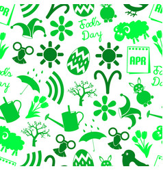 April month theme set of simple icons seamless vector