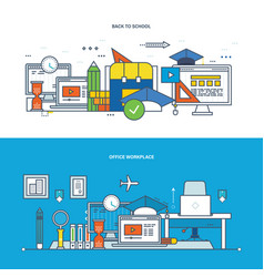 teamwork workplace education learning research vector image