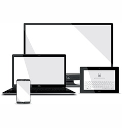 Screens collection - smart phone laptop tablet vector