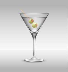 glass of martini vector image