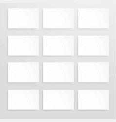 blank sheets of white paper set vector image