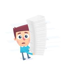 Bureaucracy complicates the process vector image