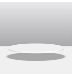 Round pedestal for display vector