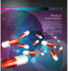 medical theme flyer brochure vector image