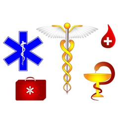 Medical symbol set vector
