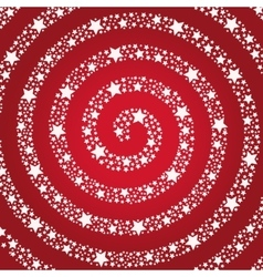 Spiral of the stars on a red background vector