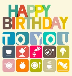 Happy Birthday to You Card vector image