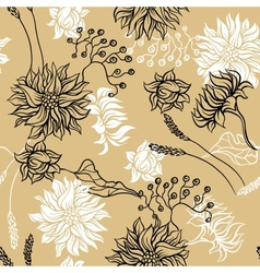 Seamless pattern with flowers background for you vector image