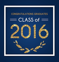 Class of 2016 design vector