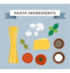 Pasta ingredients vector