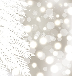 Abstract winter glowing background with fur-tree vector image vector image