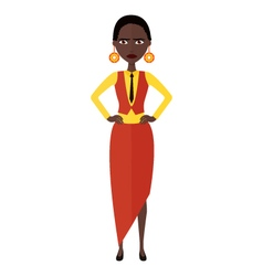 African nervous manager woman cartoon vector