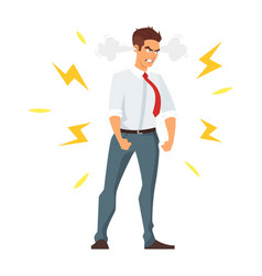 angry young businessman vector image