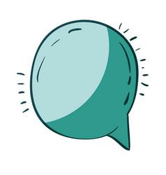 aquamarine hand drawn of round speech vector image vector image