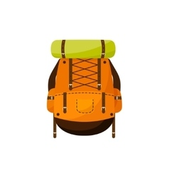 Backpack in a flat stzle vector image vector image