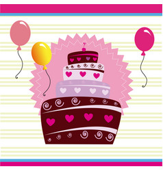 Birthday design over purple background vector