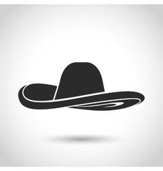 black hat icon vector image vector image