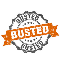 Busted stamp sign seal vector