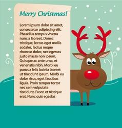 Christmas deer rudolf vector