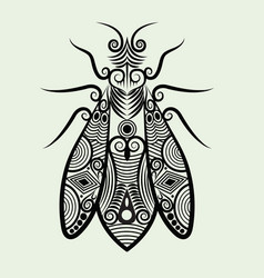 Decorative bee vector image