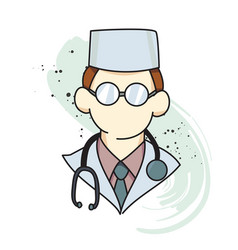 Doctor cartoon hand drawn image vector