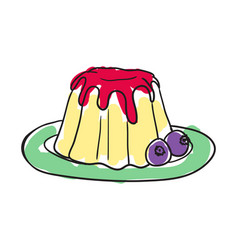 english cake hand drawn isolated icon vector image vector image