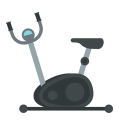 Exercise bike icon flat style vector