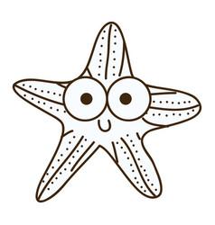 figure happy star cartoon icon vector image vector image