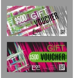 gift voucher card template vector image vector image