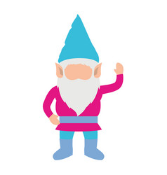 gnome without face and colorful costume and vector image vector image