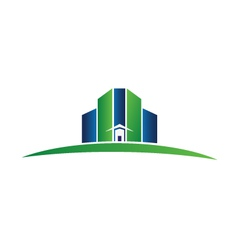 Green building real estate logo vector image
