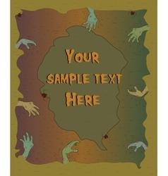 Halloween poster with zombie hands halloween vector